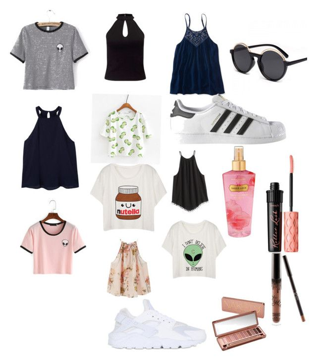 """◼️◻️◼️"" by emiliesevel on Polyvore featuring MANGO, WithChic, Aéropostale, Miss Selfridge, adidas, NIKE, Benefit, Urban Decay and Victoria's Secret"