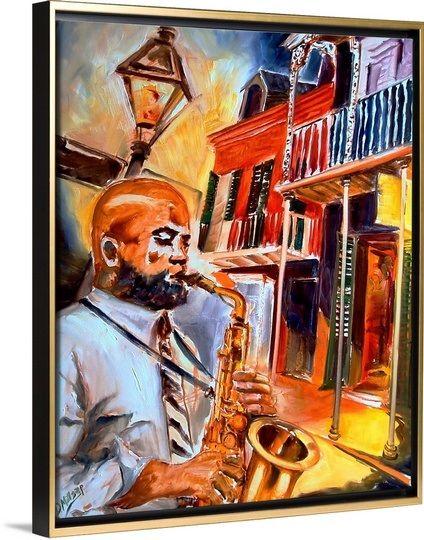 Big easy jazz african american artframed printscanvas