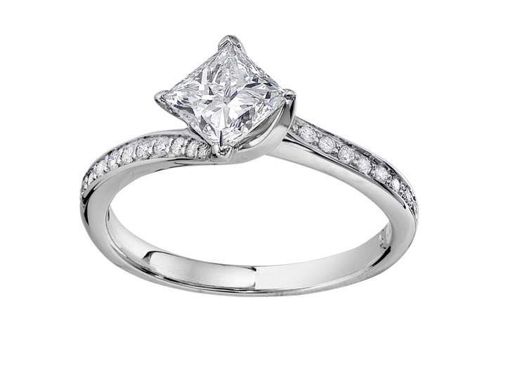 Glacier Fire 14kt white gold .80ctw canadian diamond ring | Charm Diamond Centres $4299 #diamond #glacierfire #jewellery #ring #engagement