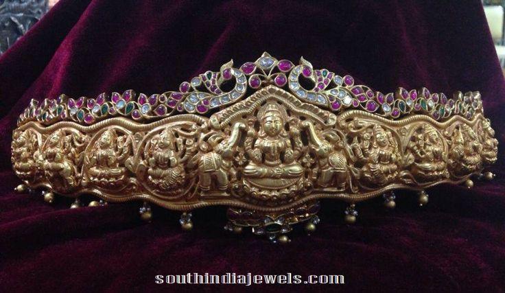 Ashta Lakshmi Ottiyanam with rubies and polki