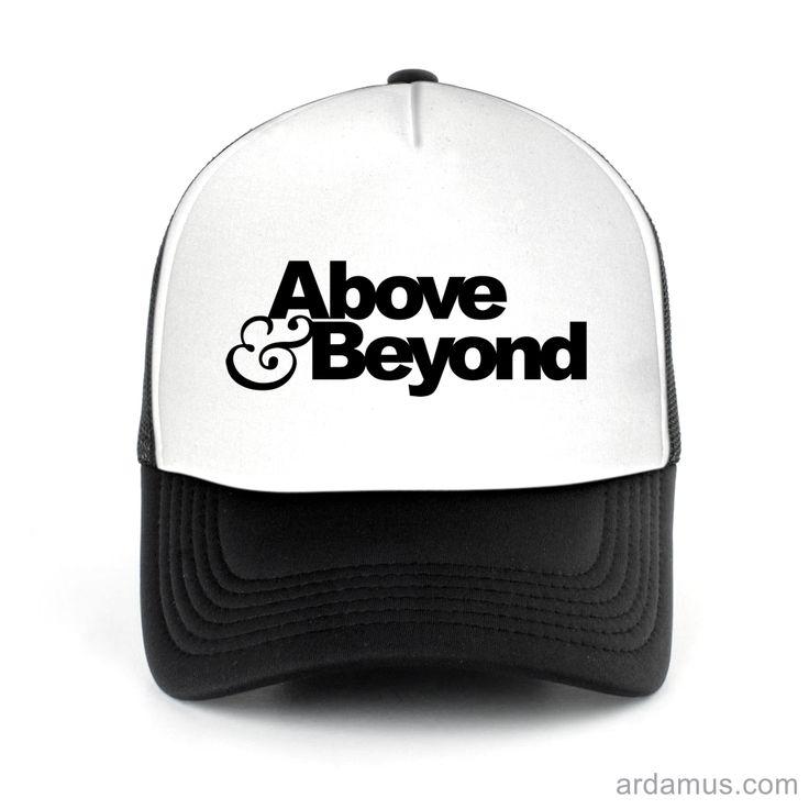 Above Beyond Trucker Hat for men or women. Available color black, red, pink, green. Shop more at ARDAMUS.COM #djtruckerhat #djcap #djsnapback #djhat