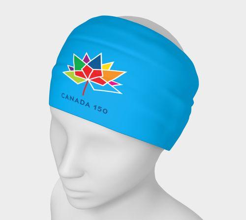 Canada 150 Blue Headband