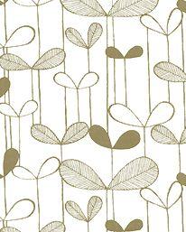 Tapet Saplings White/Gold från MissPrint