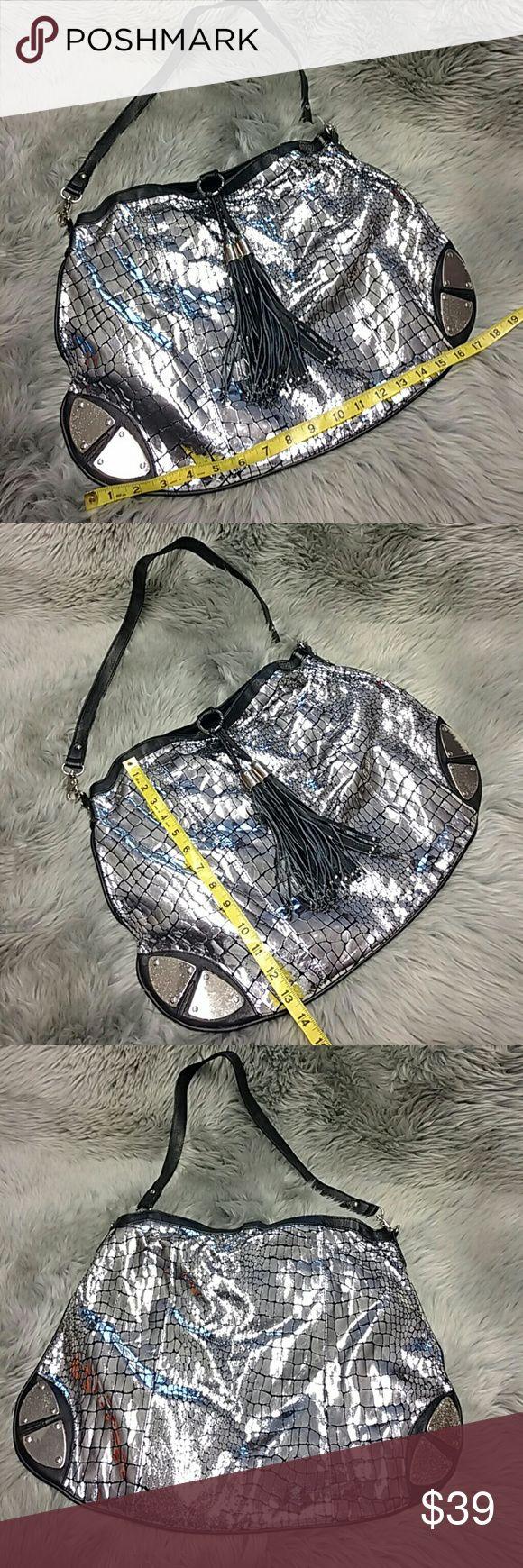 Leather and Metal Pamela McCoy Bag Unique silver shoulder bag. EUC Pamela McCoy Bags Shoulder Bags