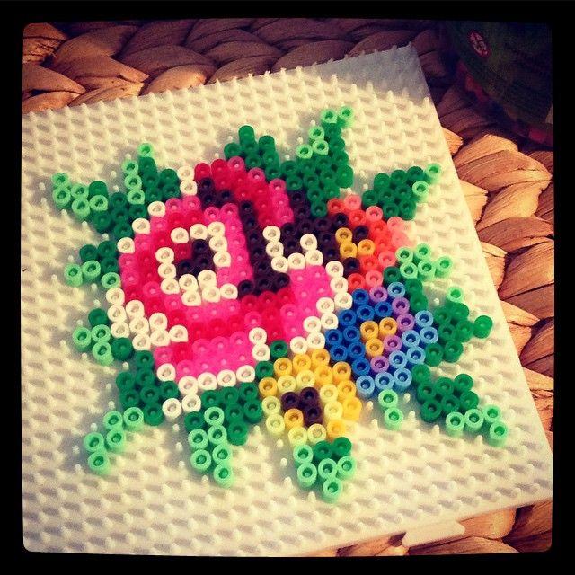Flowers hama beads by rkerridge11