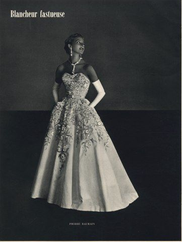 Pierre Balmain 1953 Fashion Photography