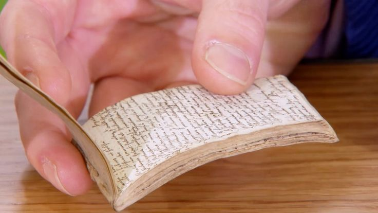 """The tiny pad, featuring """"scientific scholarly notes"""", is to feature on the Antiques Roadshow"""