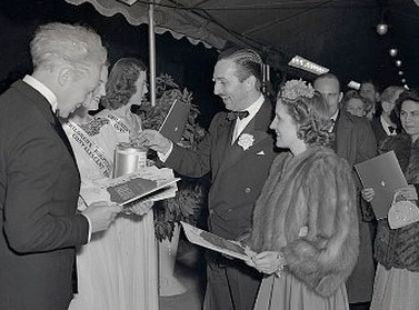 Walt Disney and Wife Arriving at Movie Premiere 1941