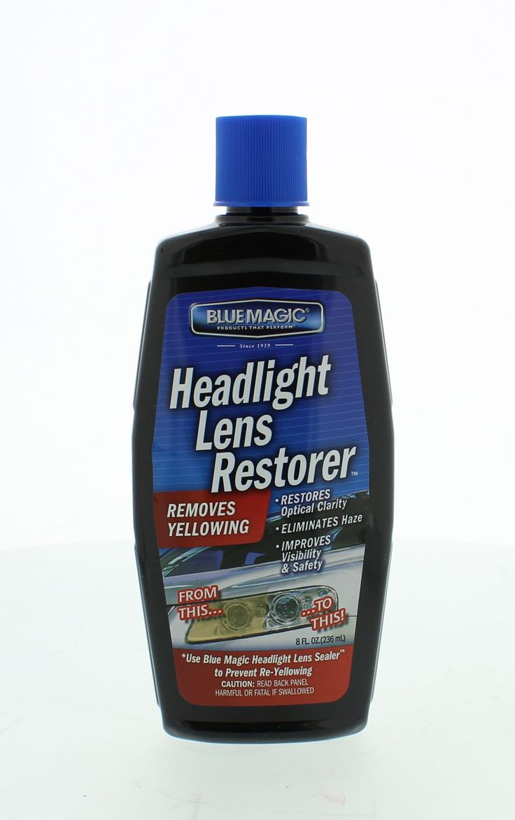 Blue Magic 725-06 Headlight Lens Restorer, 8 oz.