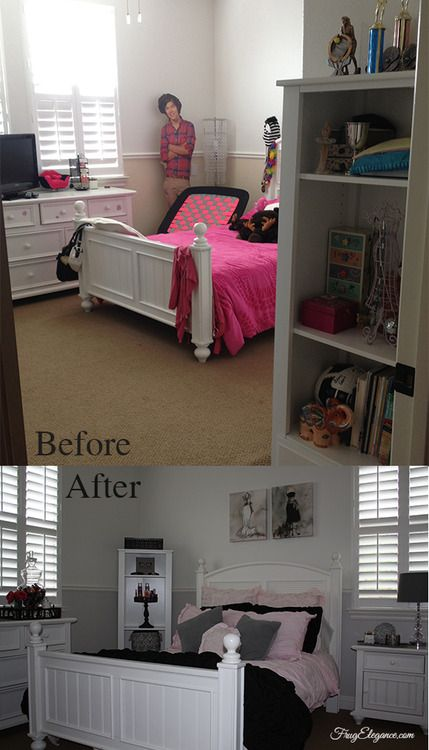 Come see our room makeover. From young girl to young lady this room takes on a whole new look! And all done Frug-Elegantly! http://frugelegance.com/post/80714742203/frugelegance-by-design-bedroom-update #Target #HomeGoods #TeenBedroom #Bedroomakeover