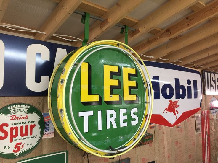 Man Cave Signs Canadian Tire : Double sided porcelain neon lee tire sign my man