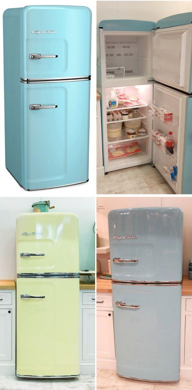Featuring The Big Chill Slim Refrigerator Big Chill Kitchen Design Color Kitchen Credenza