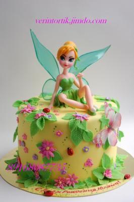 Торт с феей Динь-Динь