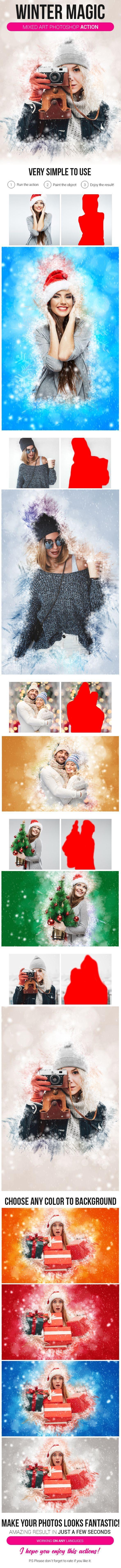 Asombroso Acción Photoshop Marco Polaroid Foto - Ideas ...