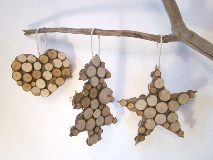Diy Christmas ornaments, made from branches #nature