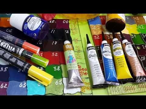 ▶ Обзор по контурам и маркерам для стекла и керамики - YouTube