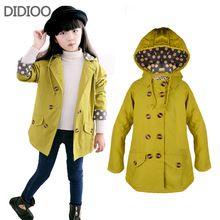 Kinderen jassen voor meisjes jas mode herfst Breasted grote kinderen windbreakers casaco outfits kids kleding maat 2-14(China (Mainland))