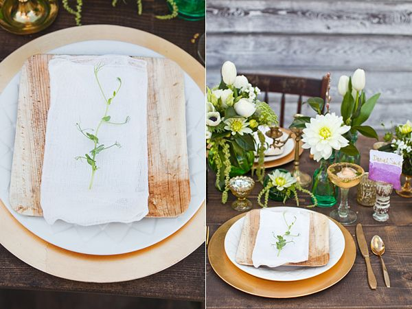 Baby Pea Shoot on Bamboo Plate by Alisa Lewis Styled DIY Shoot by Alisa Lewis Florals : bamboo tableware - pezcame.com