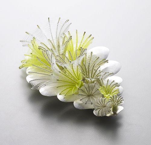 Eunju Park, Brooch: Mature 1, 2012 925 silver, nylon (fishing thread) 80 x 120 x 28 mm