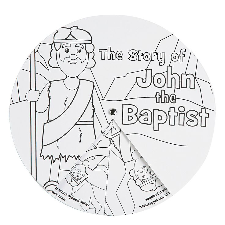 Children Learn About The Life Of St John Baptist When They Use Their Own Crayons And Markers To Make His Stories Come
