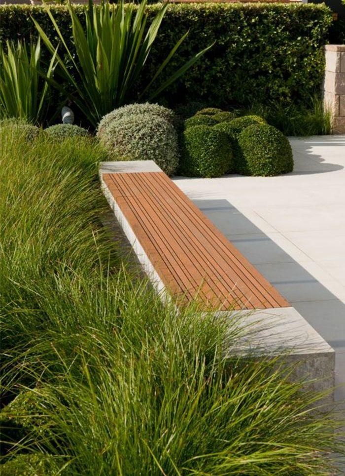 jardin paysager, arrangement de jardins modernes paysagés