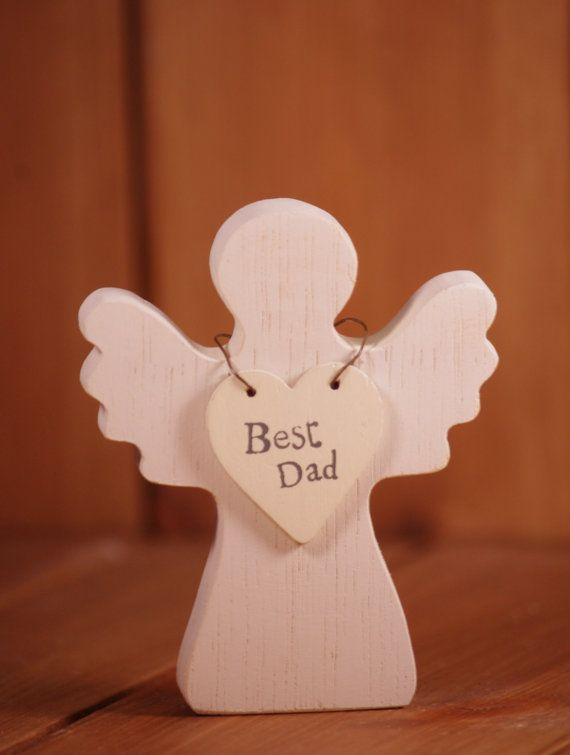 Best dad, wooden angel, gift for dad, wedding gift for dad, gift for father, father gift