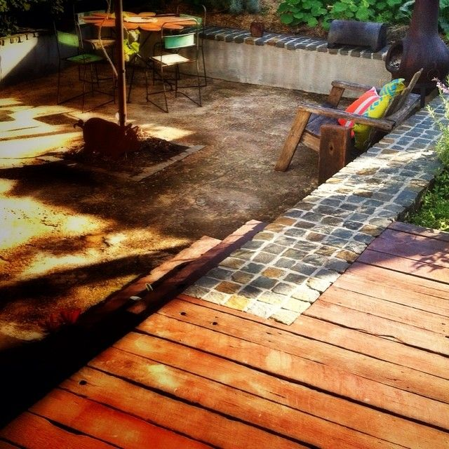 Ageing gracefully #rustic #garden almost 5years on. #landscaping #brisbane #winterwarmth #familygarden