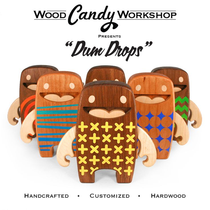 We are excited to share another release for DesignerCon - Dum Drops! Thats right - we have started playing with a bit of color!  Dum Drops Designed and Handcrafted in Flower Mound Texas Each is Uniquely Customized with Acrylic Stands 6 inches Tall Comes in a Muslin Sack Inlaid Eyes 2 Points of Articulation Hand Rubbed in Satin Finish Oil and Topped off with Beeswax Hardwood Cherry or Walnut body with Maple arms To be Released at Designer Con - Booth 110 by the entrance  Come back for…