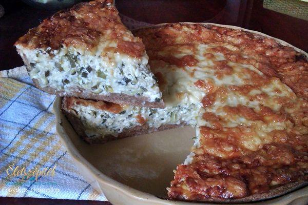 Így készül a zöld quiche, a francia pite