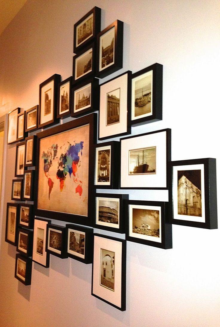 Открытки, оформление открытками стены