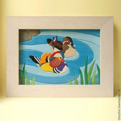 kimekomi art картина утки мандаринки купить в москве две уточки мандаринки талисман уточки мандаринки картина летний день на озере утки мандаринки пара утки символ любви картина японский стиль японска