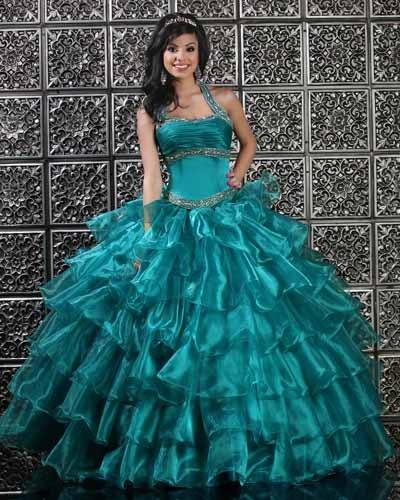 Vestido de 15 años Azul ¿No es hermoso?