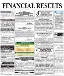 Times of India Financial Results Ad Rates for Newspaper.