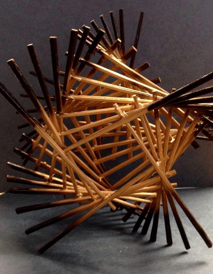 3D chopstick sculptures - NGHS room 406