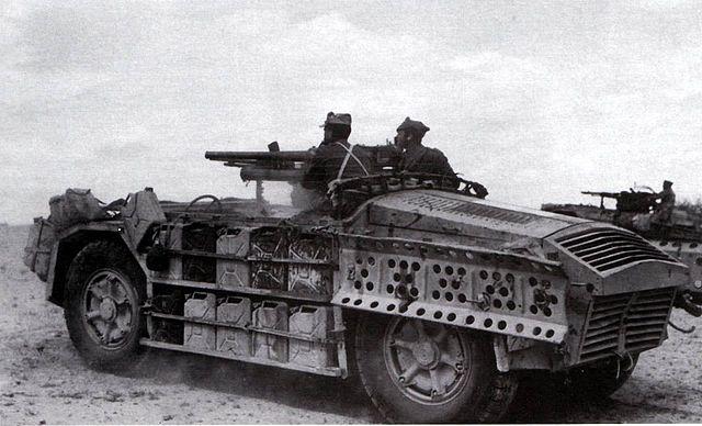 """AS42 """"Sahariana"""" Italian Armoured Car."""