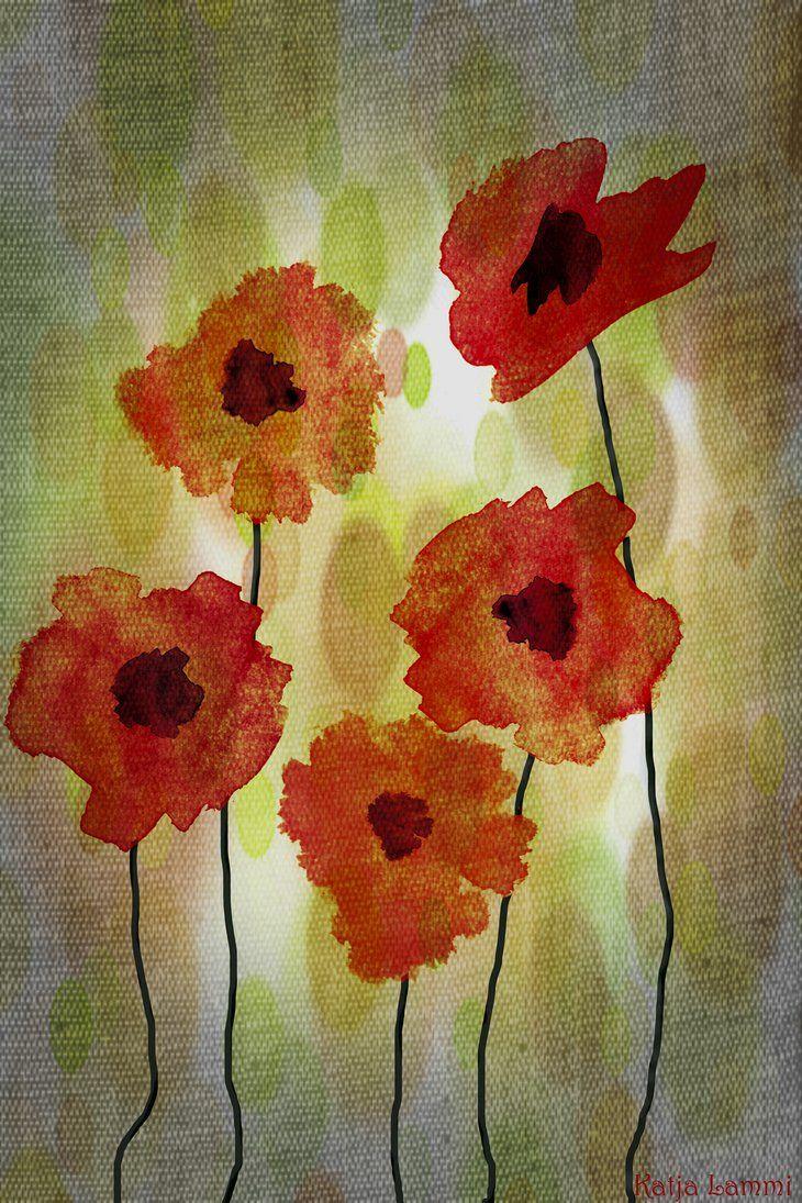 Poppies by KatjaLammi on DeviantArt