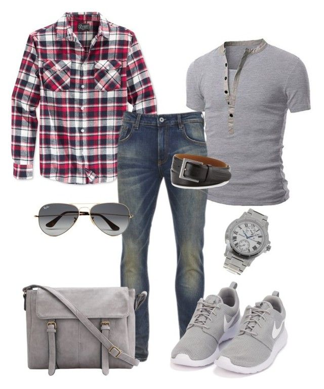 """Casual Menswear - Mario"" by kdorisz on Polyvore featuring Retrofit, Scotch & Soda, NIKE, Ray-Ban, Neiman Marcus, Thomas Earnshaw"
