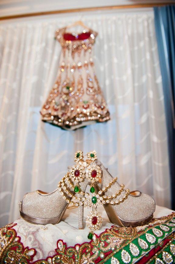 Glitter wedding pumps - Sona Photography - Florida Hindu Indian Wedding