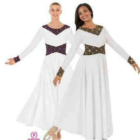 Liturgical  Dance Dress (3 Different  Sizes ) *New* Dance Dress Dresses