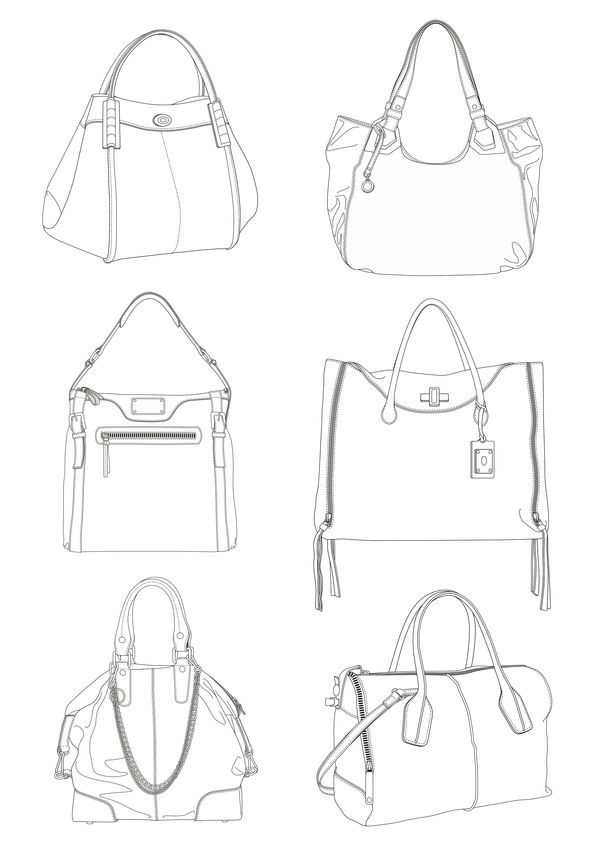 39 best images about bag sketches on Pinterest