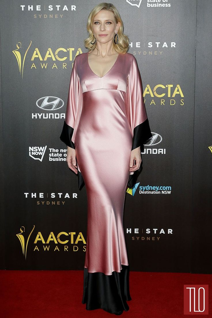 Cate Blanchett attends the 2015 AACTA Awards Ceremony at The Star in Sydney, Australia in an Alexander McQueen satin kimono-sleeve gown.