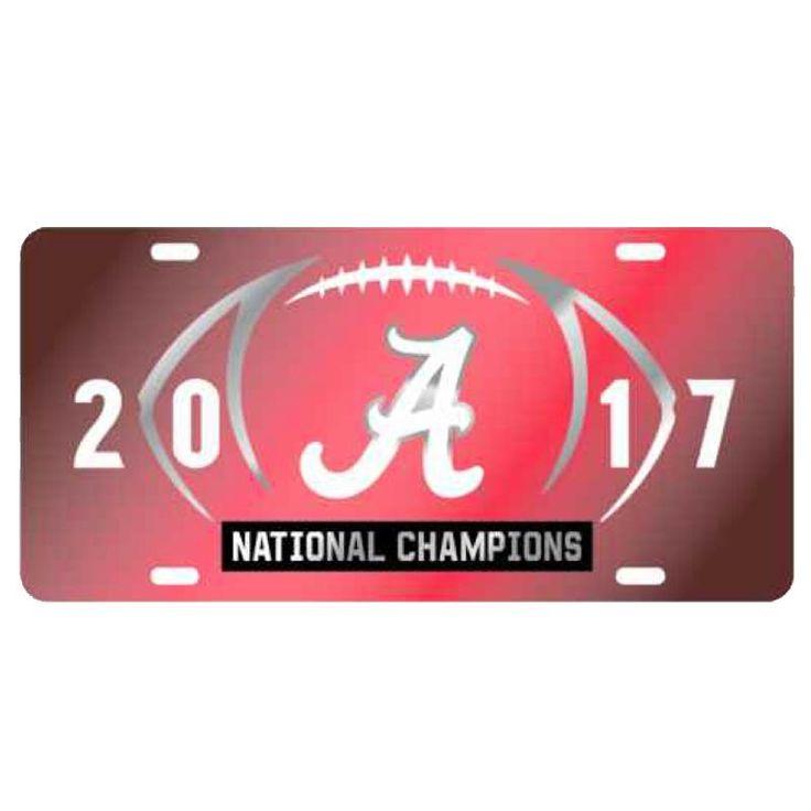 2017 National Champions Mirror Car Tag - Crimson