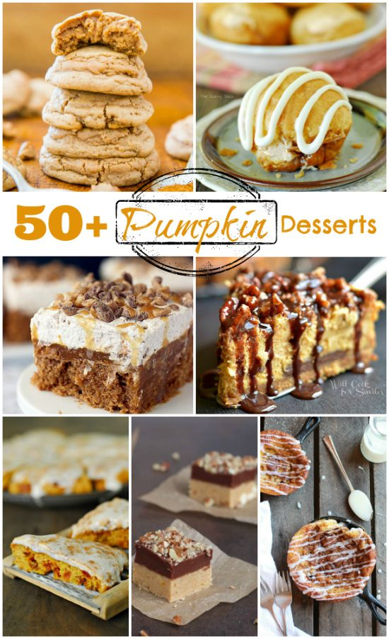 Pumpkin Recipes are a perfect for autumn! Here are 50 Pumpkin Desserts to inspire some fall baking!