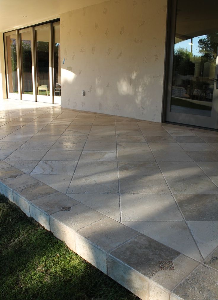 Travertine Flooring @ Outside Patio