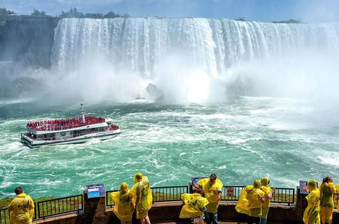 Small-Group Niagara Falls Day Tour from Toronto with Boat Cruise and Optional Fallsview Lunch  Discover all that Niagara has to offer on this full-day narrated sightseeing tour of Niagara Falls by air-conditioned motor coach or mini bus. Your local guide will provide commentary on the history of the area, the role of the Native population, and the geography that makes the Niagara peninsula so unique. Your tour package includes a scenic drive along the historic Niagara Parkway...