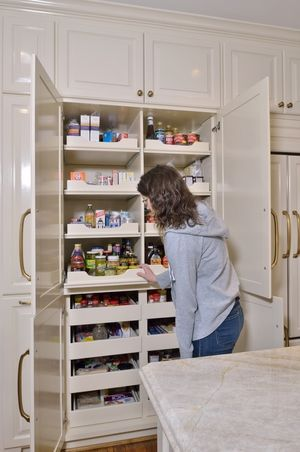 drawers that slide out in pantry, either this style or slim half height pull outs