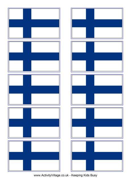 Finland flag printable