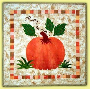 "Pumpkin Patch, 18 x 18"", workshop by B.J. Titus"