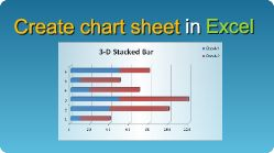 Create Excel charts placed in a separate sheet in C#, VB.NET, Java, PHP, C++ and other programming languages! #Excel #Chart #Sheet #CSharp #VBNET #Java #PHP #CPlusPlus