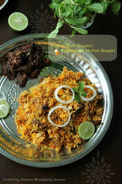 Mutton Dum Biryani/Hyderabadi Mutton Biryani ~ Kitchen Secrets and Snippets